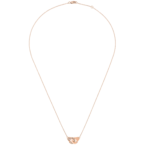 Collier Menottes dinh van R8 Or rose, diamants
