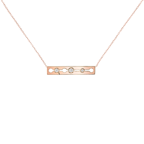 Collier Pulse dinh van Or rose, diamants