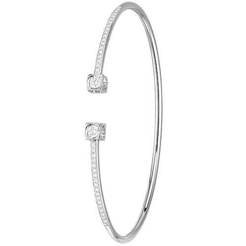 Bracelet Flex Le Cube Diamant dinh van Or blanc, diamants