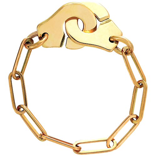 Bague chaîne Menottes dinh van R7 Or jaune