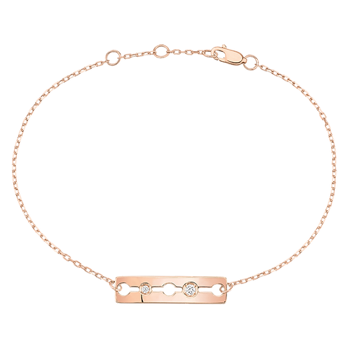 Bracelet sur chaîne Pulse dinh van Or rose, diamants
