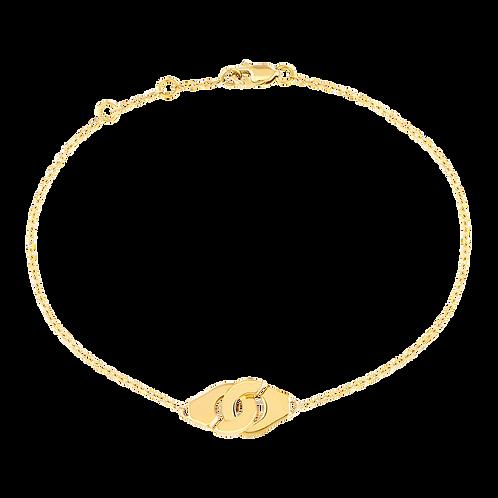 Bracelet sur chaîne Menottes dinh van R8 Or jaune