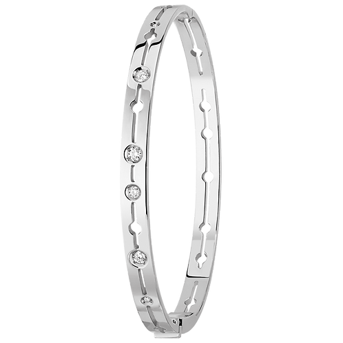 Bracelet Pulse dinh van Or blanc, diamants