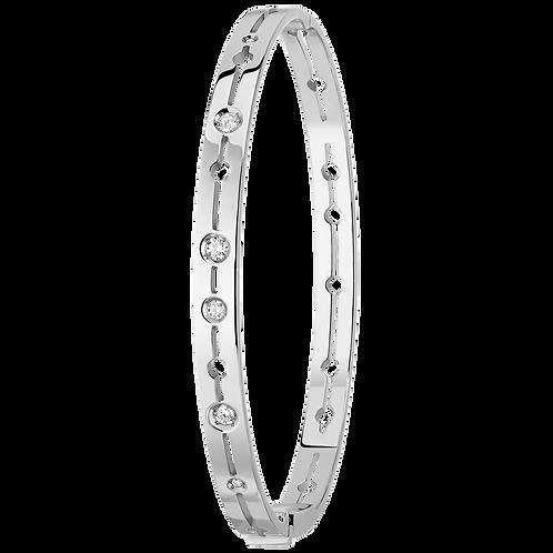 Bracelet Pulse dinh van Or blanc, diamants