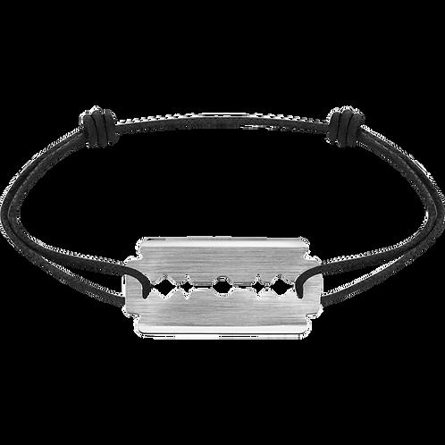 Bracelet sur cordon Lame de Rasoir dinh van Or blanc