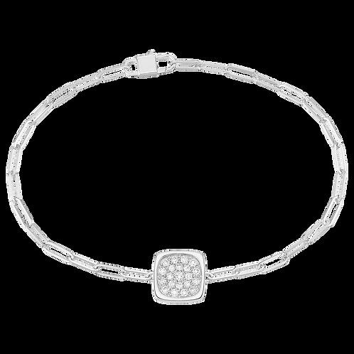 Bracelet sur chaîne Impression dinh van Or blanc, diamants