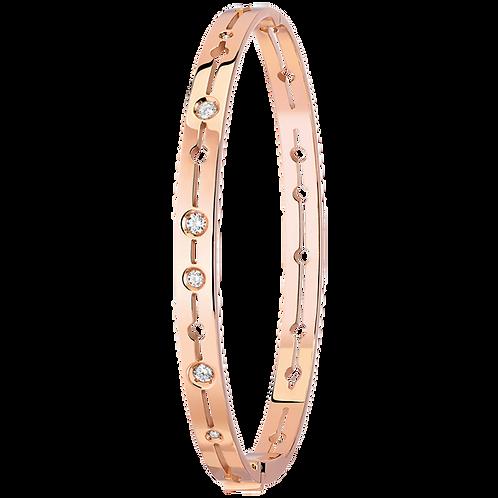 Bracelet Pulse dinh van Or rose, diamants