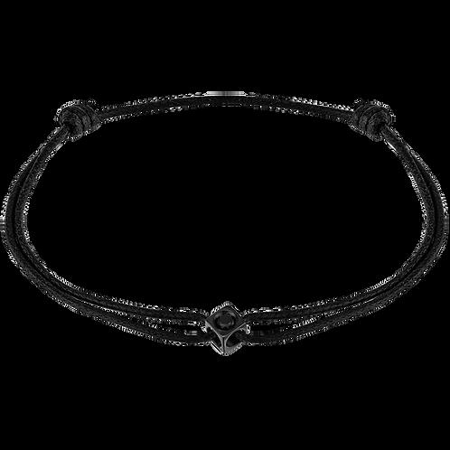 Bracelet sur cordon Le Cube Diamant Titane