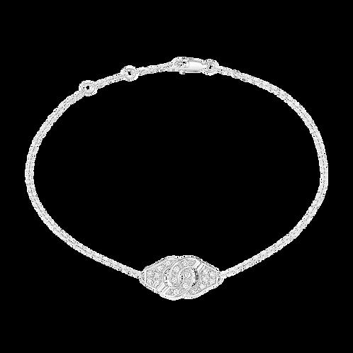 Bracelet sur chaîne Menottes dinh van R8 Or blanc, diamants
