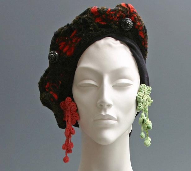 RED & BLACK CROWN HEADPIECE
