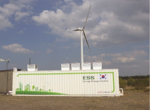 Grid-scale battery storage to complement renewable power