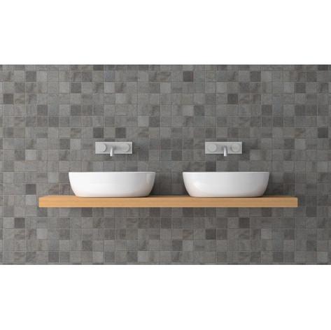 3D Mozaiek grijs