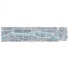 Wandschilderij plattegrond Parijs