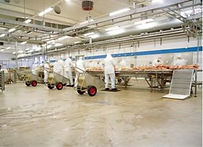 Acrylicon floor meat processing