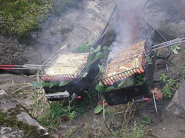 oregon wild and scenic rogue salmon fishing camp cooking