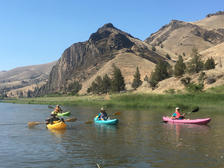 Kayaking the John Day