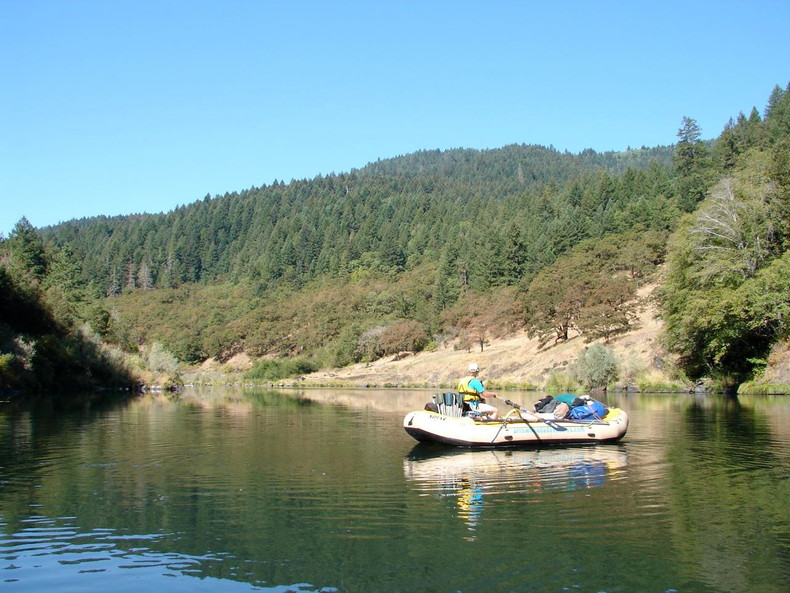 Rafting down the Rogue River