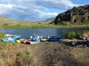 Rafts and kayaks