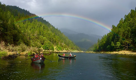 wild and scenic oregon rogue river fishing trip driftboat rainbow