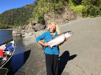 Salmon fishing on the Rogue River