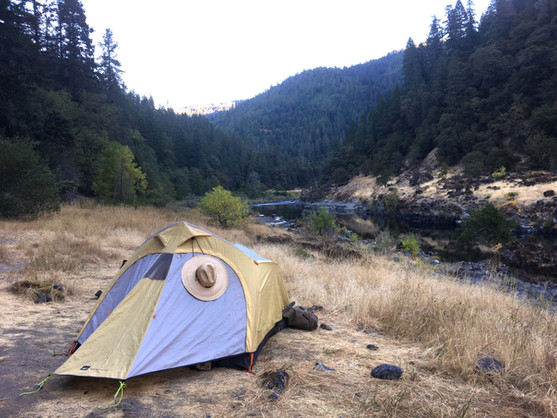 Camping along the river