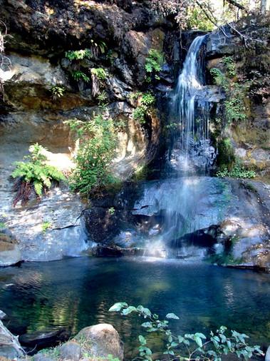 Waterfalls along the river