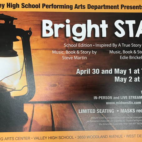 BRIGHT STAR: Show Week Rehearsal Calendar