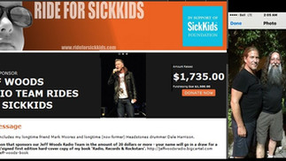 Ride For Sick Kids - Mackie Harley with Jeff Woods