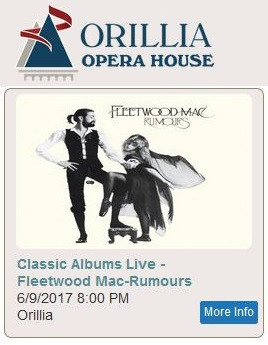 Fri.09.Jun.17 Fleetwood Mac: Classic Albums Live @ Orillia Opera House
