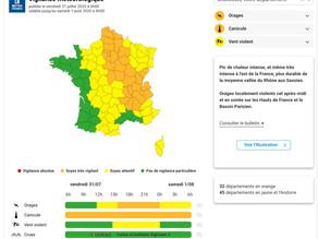 Canicule et orages : 32 départements en alerte