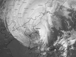 Le typhon Haishen frappe Japon et Corée