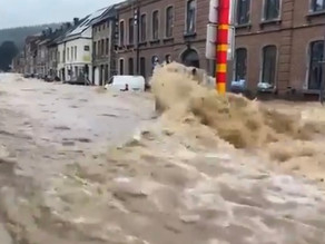 Les images spectaculaires des inondations en Europe de l'ouest