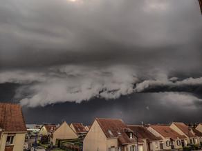 Arras : impressionnant «arcus» observé durant un orage ce dimanche