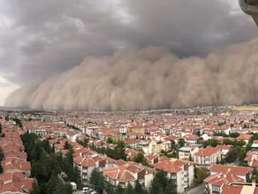 Ankara sous une tempête de sable impressionnante !