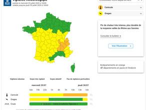 Canicule : 6 départements en vigilance orange