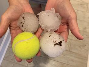 Des grêlons de 10 cm de diamètre sous un orage en Alabama