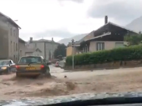 Ain : un violent orage provoque des inondations