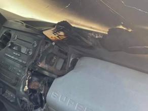Une voiture frappée par la foudre aux États-Unis