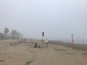 Brouillard : des baigneurs évacués à Gruissan