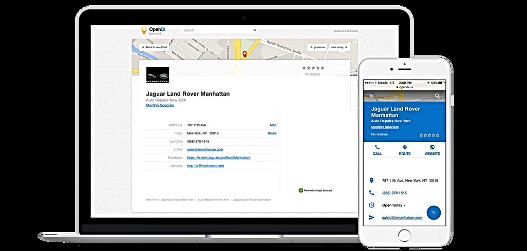 Page d'entreprise, Opendi, Entreprise référencement Boxcom