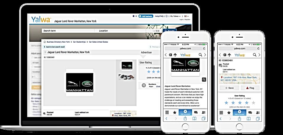 Page d'entreprise, Positionnement site Web avec Yalwa