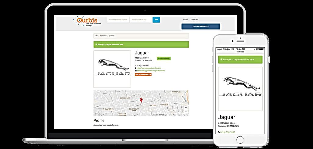 Page d'entreprise, Augmenter référencement site Web avec Ourbis