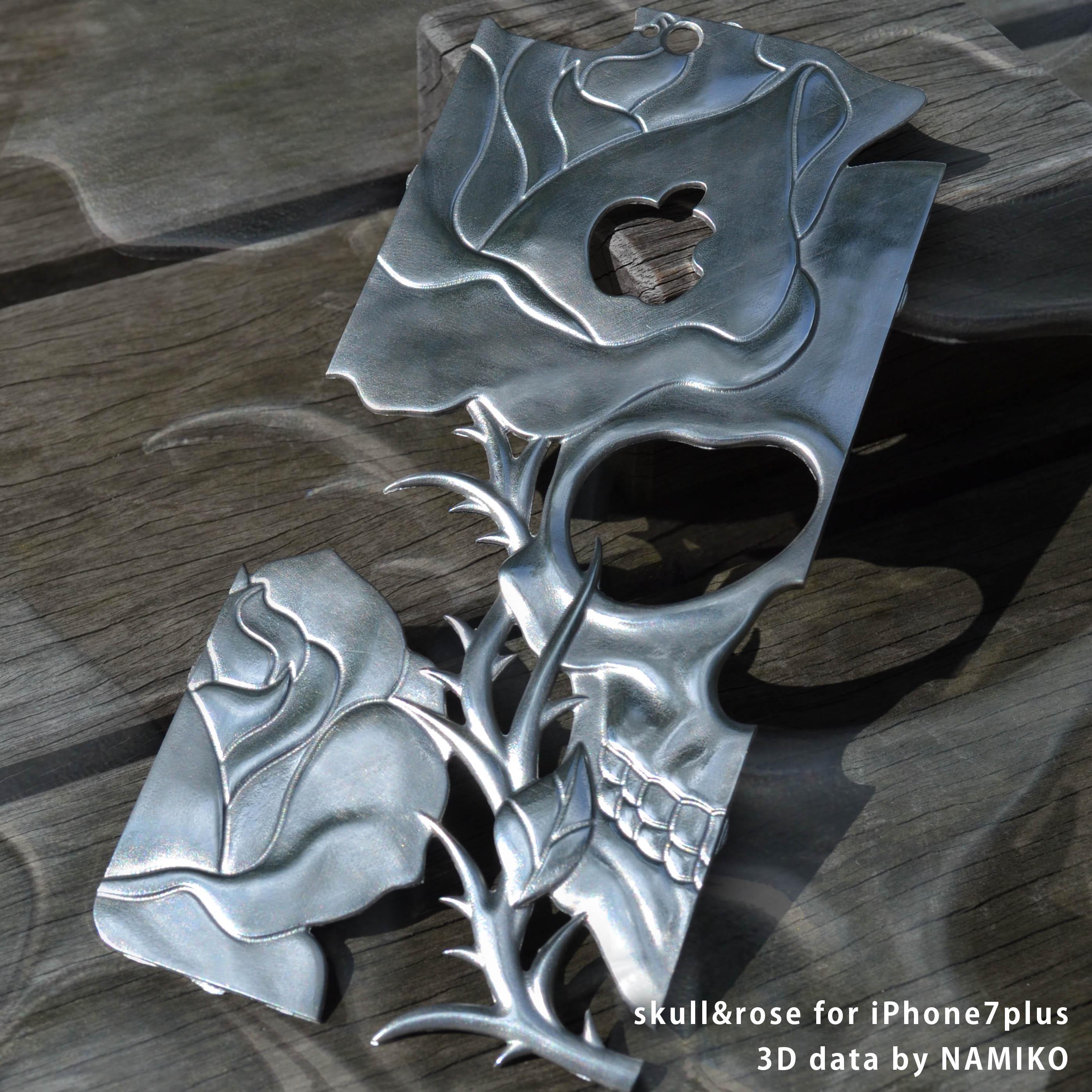iPhone Cover -skull&rose-