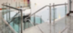 stainless steel, glass and aluminium handrail systems