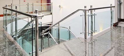 Glass handrail systems