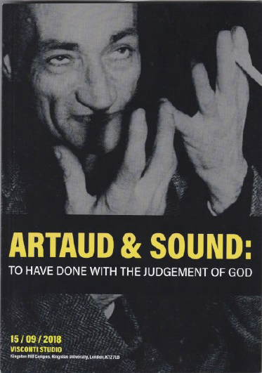 Artaud & Sound: To have done with the judgement of god