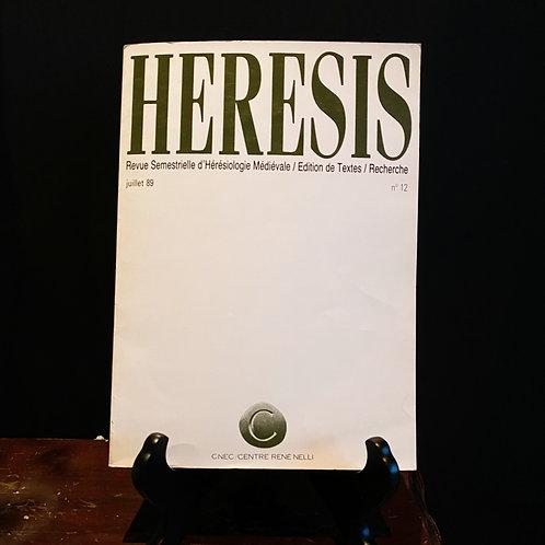 HERESIS - Revue Semestrielle d'Hérésiologie Médiévale