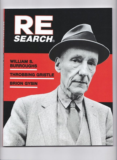 RE/Search/ William S. Burroughs/ Throbbing Gristle/ Brion Gysin