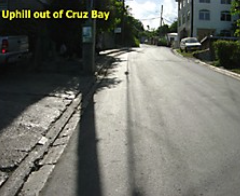 Uphill out of Cruz Bay
