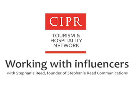Watch my influencer marketing chat with CIPR's tourism & hospitality group